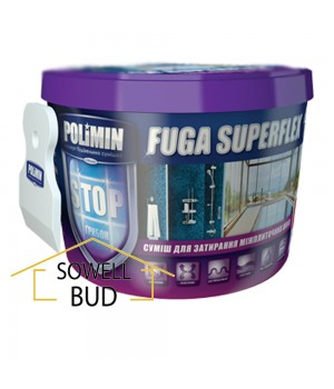 Затирка эластичная fuga superflex Polimin персик ведро 2 кг